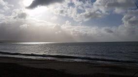 Weymouth de plage d'Overcombe Photos libres de droits