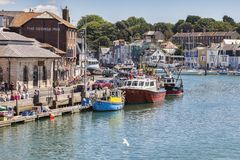 Weymouth Docks, Dorset UK Stock Photos