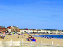 Weymouth, Dorset. The beach and seafront at Weymouth, Dorset, England, UK Royalty Free Stock Photography
