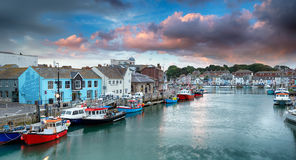Weymouth in Dorset. The harbour at Weymouth on the Dorset coast royalty free stock image