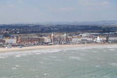 Weymouth Esplanade. With Dorset hills beyond from Weymouth Eye Royalty Free Stock Images