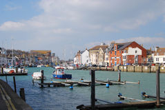 Weymouth Harbour. Bustling Ancient Weymouth Harbour, Dorset Royalty Free Stock Photos