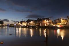 Weymouth-Hafen nachts Stockfoto