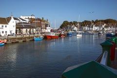 Weymouth hamn Fotografering för Bildbyråer