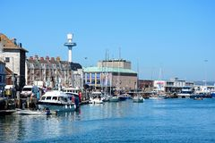 Weymouth hamn Royaltyfri Fotografi