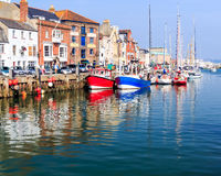 Weymouth hamn Dorset Royaltyfri Foto