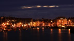 Weymouth hamn England Arkivbilder