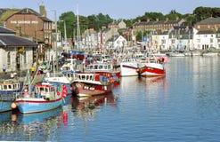 Weymouth hamn England royaltyfria bilder