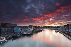 Weymouth hamn arkivbilder