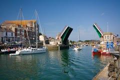 Weymouth hamn i Dorset Arkivbild
