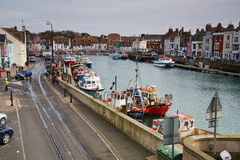 Weymouth hamn i Dorset Royaltyfri Fotografi