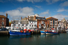 Weymouth harbor in Dorset. Royalty Free Stock Images