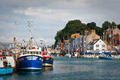 Weymouth harbor in Dorset. Royalty Free Stock Photo
