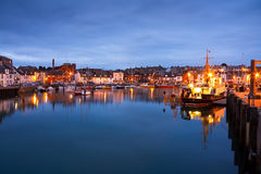 Weymouth harbour in Dorset. Royalty Free Stock Images