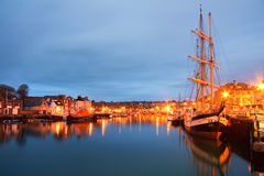 Weymouth harbour in Dorset. Stock Image
