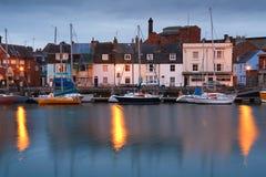 Weymouth harbour in Dorset. Stock Photos
