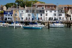Free Weymouth Harbour, Quayside And Boats, Dorset, England. Stock Photos - 171487283