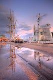 Weymouth harbour at sunset. Dorset Weymouth harbour at sunset, England, UK royalty free stock photography