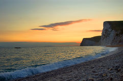 Weymouth Küste Großbritannien Lizenzfreie Stockfotos