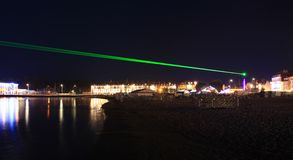 Weymouth Lazers over seafront in dorset Stock Photos