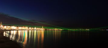 Weymouth Lazers over seafront in dorset Stock Image