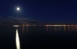 Weymouth at night dorset uk Stock Photography