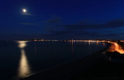 Weymouth på natten Arkivfoto