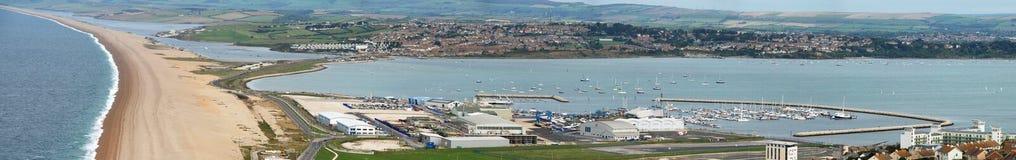 Weymouth panoramico fotografia stock