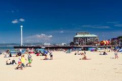Weymouth plaża Dorset Anglia zdjęcie royalty free