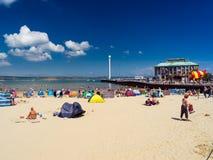 Weymouth plaża Dorset Anglia fotografia stock