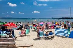 Weymouth plaża Dorset Anglia zdjęcia stock