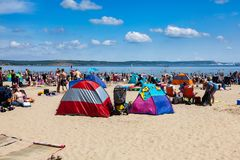 Weymouth plaża Dorset Anglia zdjęcie stock