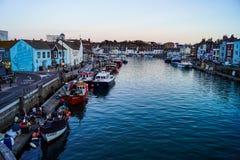 Weymouth schronienia ryby łodzie obrazy royalty free
