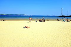 Weymouth strand, Dorset, UK Royaltyfri Fotografi