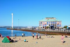 Weymouth strand och pir Royaltyfria Bilder