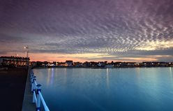 Weymouth sunset in Dorset england Stock Image