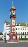 Weymouth zegarowy wierza Dorset UK w lecie na deptaku Fotografia Stock