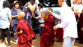 Wezen in Bagan, Myanmar stock footage