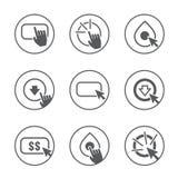 Wezwanie akci ikony set royalty ilustracja