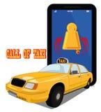 Wezwanie taxi Obrazy Royalty Free