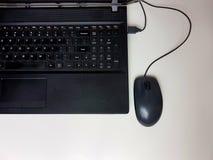 Wf do Internet do blackmouse do blackkeyboard do fingerboard do teclado Fotos de Stock