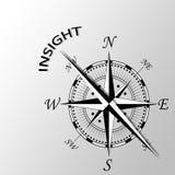 Wgląd pisać na boku kompas Fotografia Royalty Free