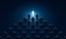 Wgląd symboliczne postacie ludzie 3D ilustracyjny rendering Zdjęcie Stock