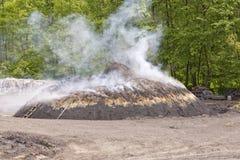 Węgla drzewnego kiln Fotografia Stock