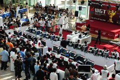 WGT Dubai. The World GameMaster Tournament in Festival City Dubai royalty free stock photography