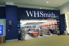 WH Smith shop in Kuala Lumpur International Airport. WH Smith shop, located in Kuala Lumpur International Airport, Malaysia. WH Smith is a CD, VCD and DVD Royalty Free Stock Images