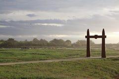 Whaharoa gateway at the Waitangi Regional Park. New Zealand stock photography