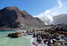Whakaari of Witte Eilandhaven in Nieuw Zeeland stock fotografie