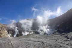 Whakaari of Witte Eilandkrater in Nieuw Zeeland stock foto