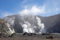 Whakaari of Witte Eilandkrater in Nieuw Zeeland royalty-vrije stock afbeeldingen